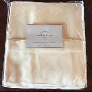 "Pottery Barn outdoor drape curtain 50""x84"""